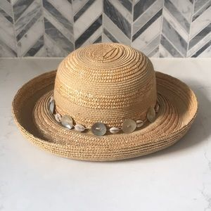 Vintage Straw shell J Hats